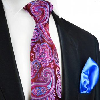 Beaujolais 7-fold Silk Tie and Pocket Square by Paul Malone