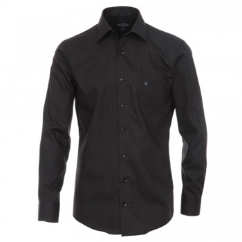 Casa-Moda mens shirt black | slim fit long sleeve dress shirt | tailored cut | 100% cotton HL51