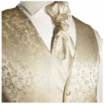 WEDDING VEST SET champagne and Wedding Shirt white V18HL8