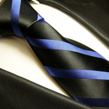 black blue necktie set 3pcs