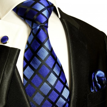 blue necktie set 3pcs
