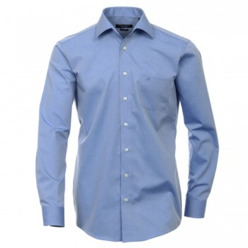 Casa Moda shirt HL28 blue kent collar x-Long arm 69cm