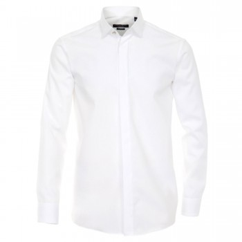 White Casa Moda shirt HL1 - shark collar - comfort fit shirt