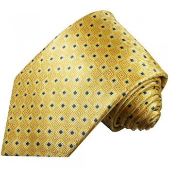 Yellow mens tie polka dots necktie - silk tie and pocket square and cufflinks