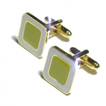 Gold green cufflinks from Paul Malone Ma10