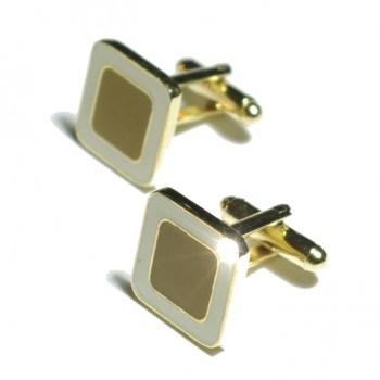 Gold oliv cufflinks from Paul Malone Ma11