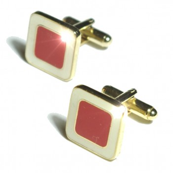 Gold red cufflinks from Paul Malone Ma14