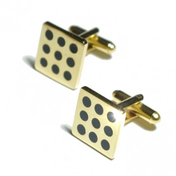 Gold black cufflinks from Paul Malone Ma09