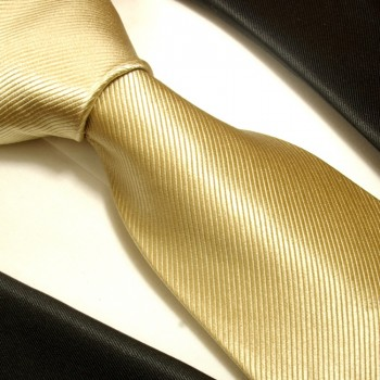 Gold brown tan mens tie 100% silk necktie solid 804