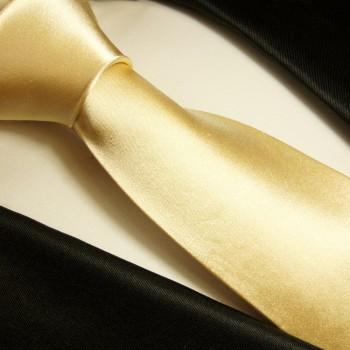Gold Tan Necktie 100% Silk Mens Tie by Paul Malone 980