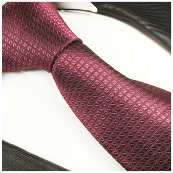 Berry tie solid necktie - silk mens tie and pocket square and cufflinks
