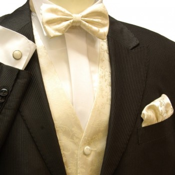 VEST SET champagne with bow tie V47F