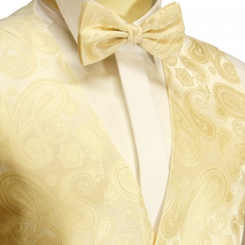 Wedding vest set with bow tie