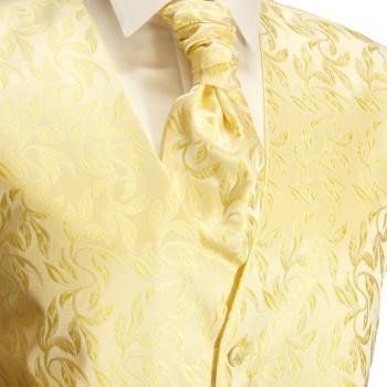 Wedding waistcoat men creme gold with matching tuxedo v49p