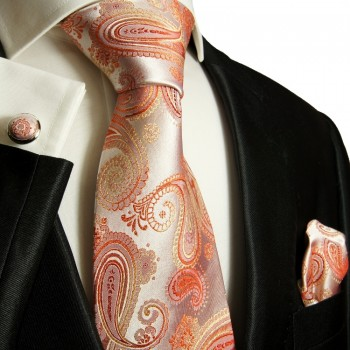 coral necktie set 3pcs