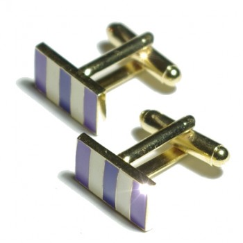 Lilac cufflinks from Paul Malone Ma05