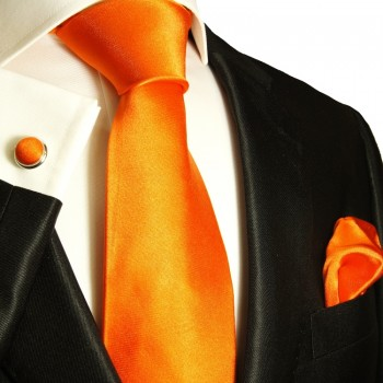 orange necktie set 3pcs
