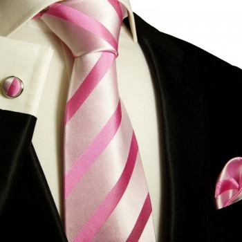 pink necktie set 3pcs
