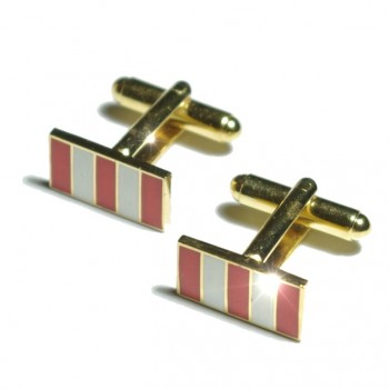 Gold white red cufflinks from Paul Malone Ma08