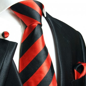 black red necktie