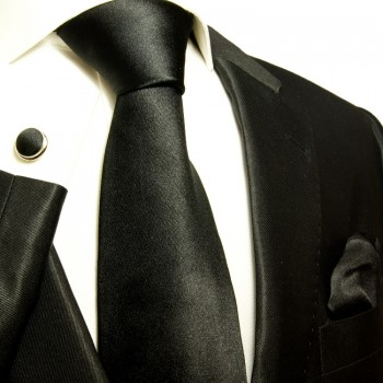 black necktie set 3pcs