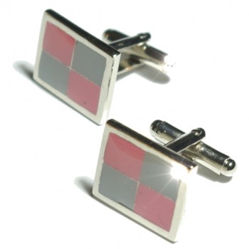 Silver pink grey cufflinks from Paul Malone Ma13