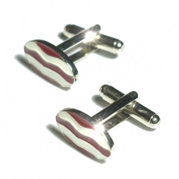 Silver white red cufflinks from Paul Malone Ma12