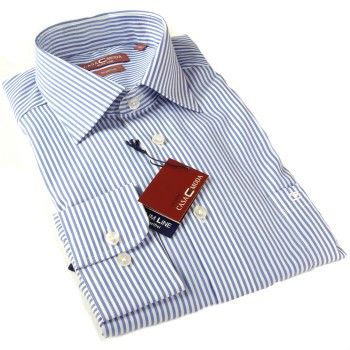 Casa-Moda shirt HL40 blue with white