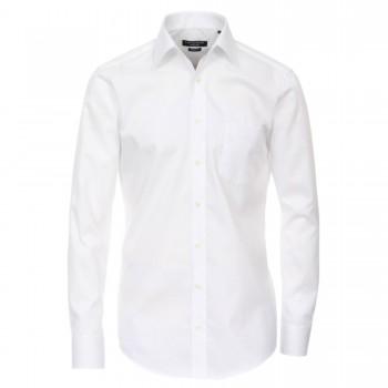 Casa-Moda mens shirt white | slim fit long sleeve dress shirt | Slim Fit | 100% cotton HL30