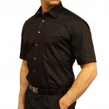 Casa Moda shirt HK61 black short sleeve