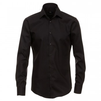 Venti slim fit shirt | black mens shirt | extra long sleeve 72cm HL80