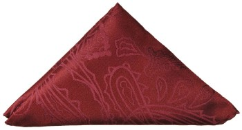 Burgundy red paisley pocket square | handkerchief Hv1