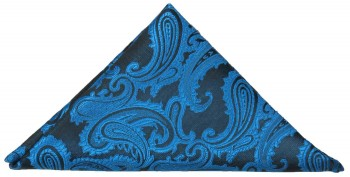Blue paisley pocket square | handkerchief Hv100