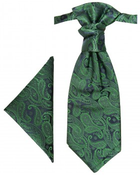 PAUL MALONE Plastron ascot tie with Hanky green PH14