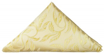 Gold cream floral pocket square | handkerchief Hv15