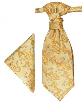 PAUL MALONE Plastron ascot tie with Hanky gold PH16