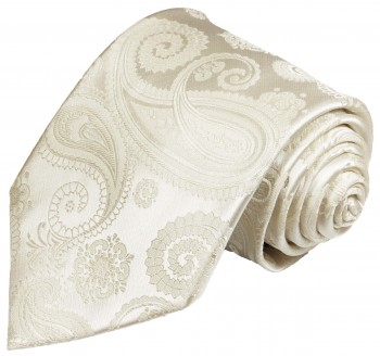Wedding vest with necktie cream paisley