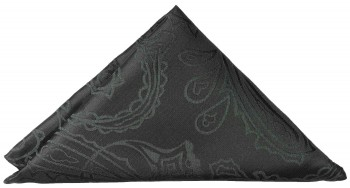 Black paisley pocket square | handkerchief Hv2