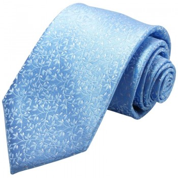 Paul Malone tie light blue white floral v2133