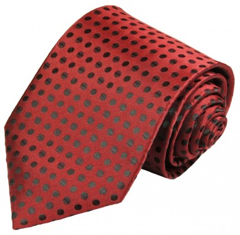 Festive vest with necktie black red polka dots