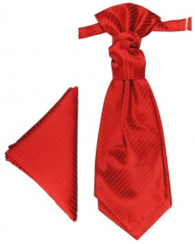 Red cravat | Ascot tie and pocket square | Wedding plastron PH24
