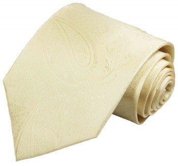Cream paisley necktie groom wedding mens tie v27