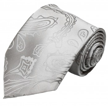 Wedding vest with necktie silver paisley