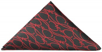 Black red baroque pocket square | handkerchief Hv4
