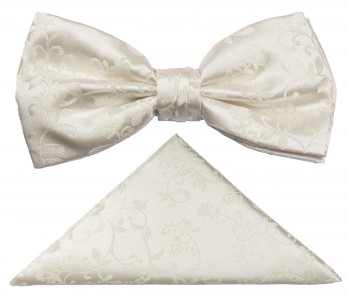 PAUL MALONE Bow Tie Set ivory BH41