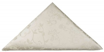 Ivory floral pocket square | handkerchief Hv41