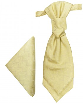 PAUL MALONE Plastron ascot tie with Hanky yellow  PH5