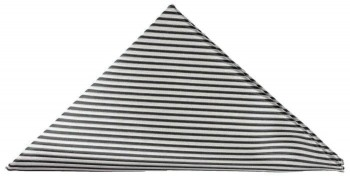 Black silver striped pocket square | handkerchief Hv7