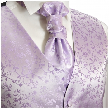 WEDDING VEST SET purple and Slim Line Shirt white V93HL30