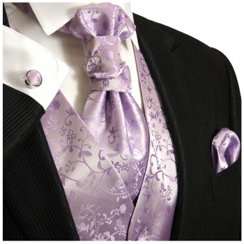 Wedding vest set purple